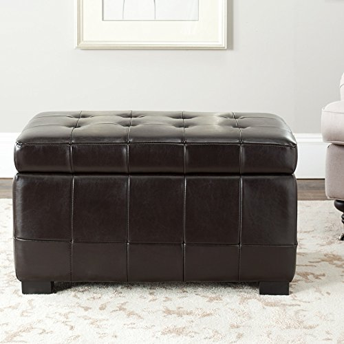 Safavieh Hudson Collection NoLIta Brown Leather Small Storage Bench