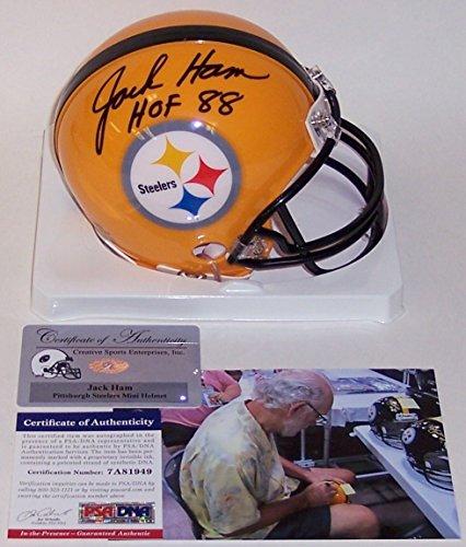 Jack Ham Autographed Hand Signed Steelers Mini Helmet - PSA/DNA ()