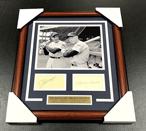 - MICKEY MANTLE JOE DIMAGGIO Autographed Cut Facsimile Reprint Framed 8x10 Photo - Autographed MLB Photos