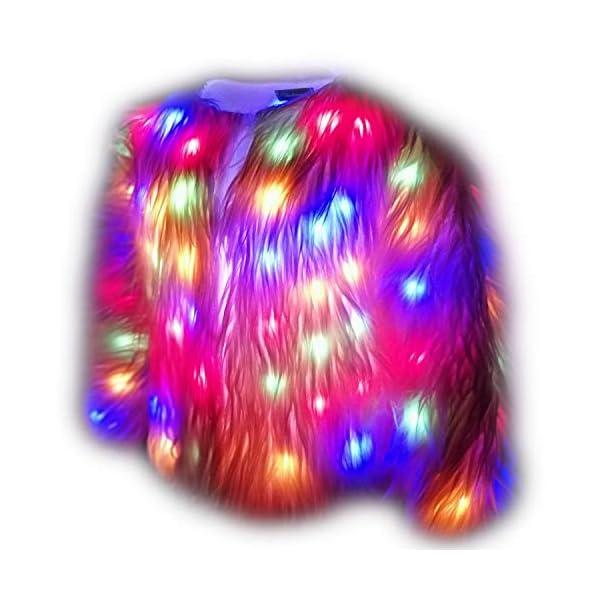 Plus Size Faux Fur Led Light up Winter Coat for Xmas Party