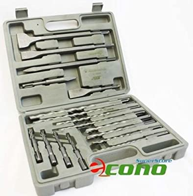 17PC SDS PLUS DRILL BITS & CHISEL ROTARY HAMMER BITS With CASE