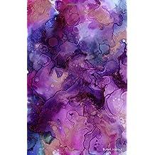 Bullet Journal: Dark Pink/Purple Marble (Ink) Notebook Dotted Grid (5.5 x 8.5), 110 Dot Grid Pages, Minimalist Planner: Bullet Journal and Sketch Book ... (Bullet Journal Minimalist) (Volume 1)