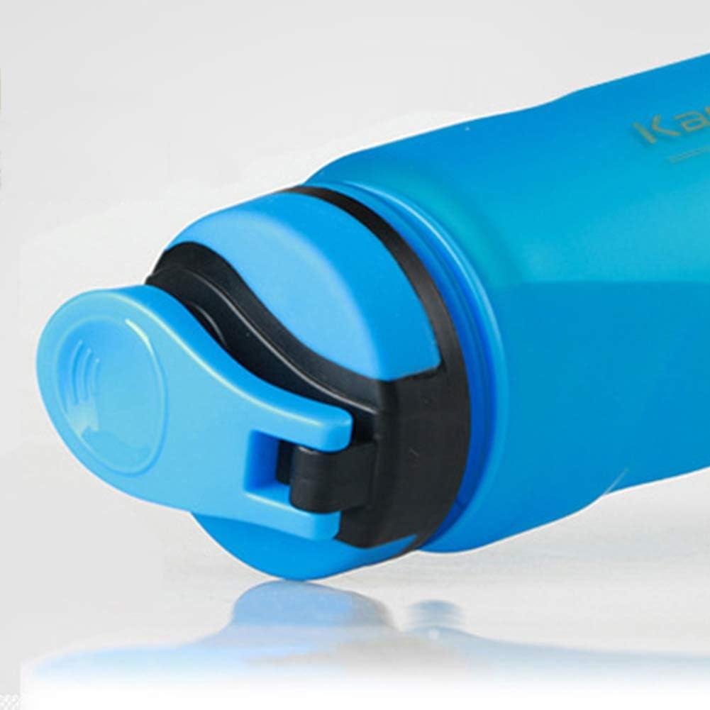 Yoga Camping Color Gris tama/ño 1 litro Fitness sin BPA Enticerowts Botella de Agua Deportiva Botella de Agua de pl/ástico no t/óxica con Tapa abatible a Prueba de Fugas para Gimnasio