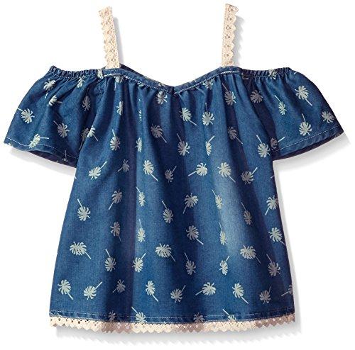 kensie Big Girls' Fashion Tank (More Styles Available), 2911 Medium Blue Denim, 10/12 (Kensie Girl Printed)