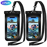 Syncwire Waterproof Phone Case, 2-Pack Universal IPX8 Waterproof Phone Pouch Dry Bag with Lanyard for iPhone XS MAX XR X 8 7 6s 6 Plus SE 5s, Galaxy S10 S9 up to 7', Perfect for Beach, Hiking, Travel
