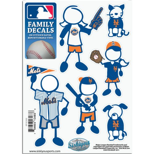 MLB New York Mets Small Family Decal Set