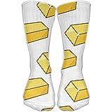 Novelty Gold Girls Dress Socks Womens Crew Socks