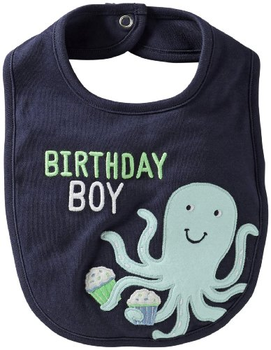Carter's Baby Boys' 'Octopus' Bib (Baby) - Blue - One Size ()