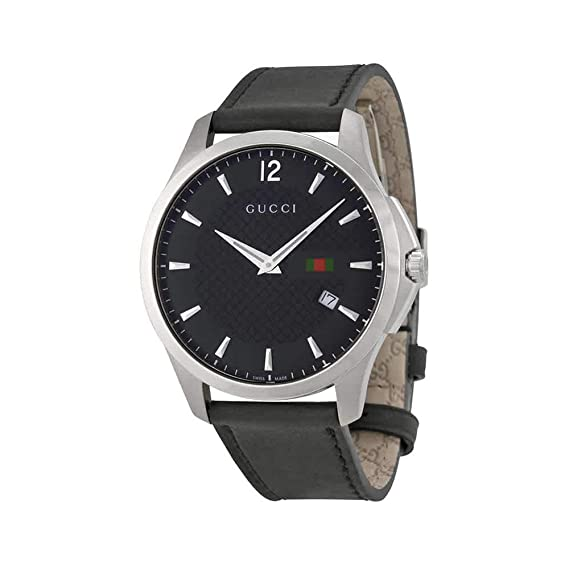 2afd6006e85 Gucci G-Timeless Leather Mens Watch YA126304  Amazon.ca  Watches