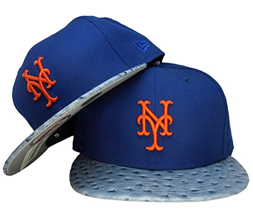 New York Mets New Era Ostrich Skin 9Fifty Strapback - Royal, Light Royal, Orange