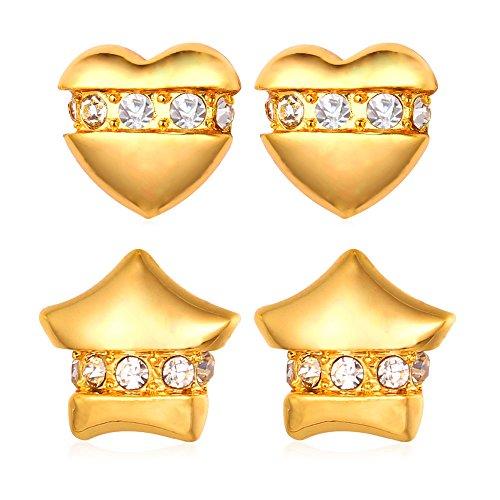 U7 Earrings Rhinestone Platinum Fashion