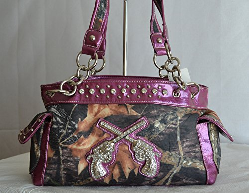 Purple mossy oak camo purses