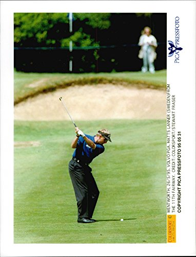 Vintage photo of Golf player Mats Lanner at the 11th hole at the Wentworth Golf Club during the Volvo PGA ()