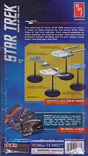 Qiyun 2015 914 2 AMT Star Trek Klingon Battlecruiser 1 2500 Snap with Trading Card ()