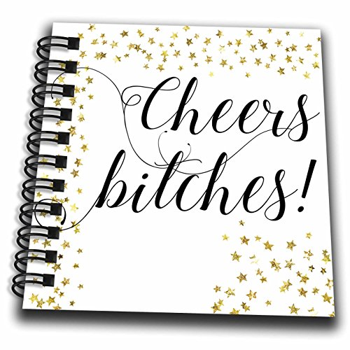 3dRose Lenas Photos - Wedding - Cheers Bitches - Bachelorette Party - Bachelorette - Holiday Gift - Mini Notepad 4 x 4 inch (db_264052_3)