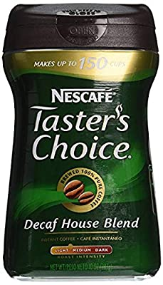 Nescafe Taster's Choice, 100% Pure Instant Coffee Decaffeinated, 10 oz