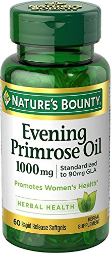 Nature's Bounty Evening Primrose Oil, 1000mg, 120 Softgels (2 X 60 Count Bottles) ()