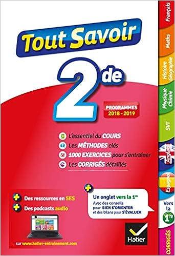 Amazon Fr Tout Savoir 2de Toutes Les Matieres De Seconde