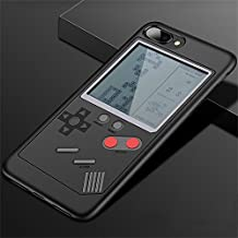 IPhone Case Tetris Game Phone Case Decompression Game iPhone 6/7/8/X Compatible - Slim Fit - Lightweight - Hard Shell - Retro Gamer Case - Retail Box Packaging (Black, for iphone 6/6s)