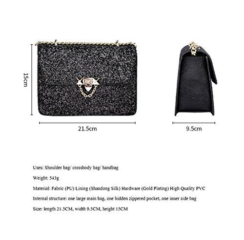 main Elegant cuir à à Mioy pour femme en Sac Shining bandoulière Handbag fille pour Sac HXXAwq