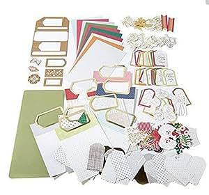 Amazon.com: Anna Griffin Festive Flips Card Making Kit & Cutting Dies for Halloween, Christmas ...