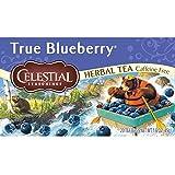 Celestial Seasonings Herbal Tea, True Blueberry, 20 Count (Pack of 6)