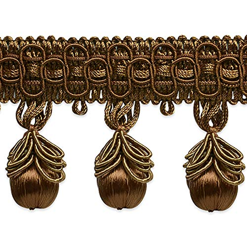 Cherry Loop Tassel Fringe - Cocoa - 2 3/4in Cocoa