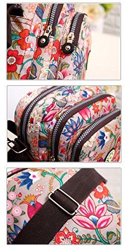 bag Handbag Messenger Flower Bag pocket Bags Crossbody ElkIsComing Bag Casual Multi Water B Shoulder functional design Anti splash Snnqv8p