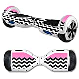 MightySkins Protective Vinyl Skin Decal for Hover Board Self Balancing Scooter mini 2 wheel x1 razor wrap cover sticker Pink Chevron