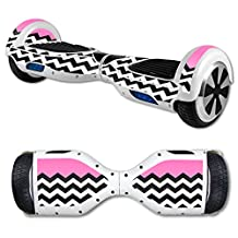 MightySkins Skin For Self Balancing Mini Scooter Hover Board - Pink Chevron | Protective, Durable, and Unique Vinyl Decal wrap cover | Easy To Apply, Remove, and Change Styles | Made in the USA