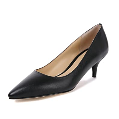 789597b9117d55 Darco Gianni Femme Chaussures Talons Elegante Verni Cuir Escarpins Sexy  Pointus Petit Talon Moyen de Bureau