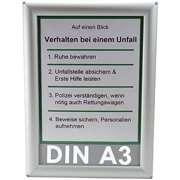 25 mm Bilderahmen OptiFrame DIN A3 Rondo Plakatrahmen Alu Klapprahmen