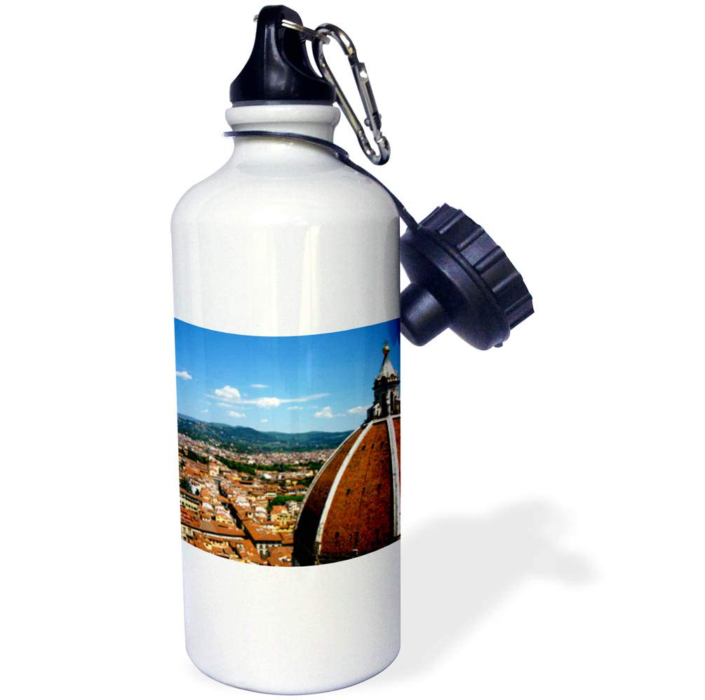 3dRose Elysium Photography - Cityscape - Aerial view of Florence, Italy - 21 oz Sports Water Bottle (wb_289637_1)
