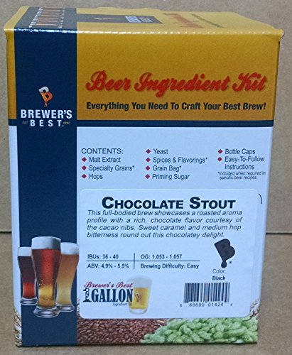 Brewer's Best One Gallon Home Brew Beer Ingredient Kit (Chocolate (Stout Ingredient Kit)