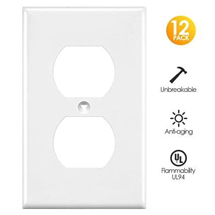 Outlet Covers White Wall Plates Light Switch Power Plug Cover 1