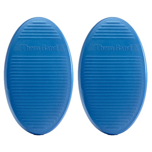 TheraBand Stability Trainer Pad, Intermediate Level Blue Balance Trainer & Wobble Cushion for Balance & Core Strengthening, Rehabilitation, & Physical Therapy, Round Sport Balance Trainer, Set of (Active Strengthening System)