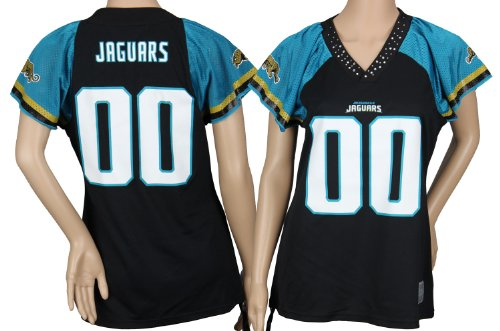 Jacksonville Jaguars NFL Women's Team Field Flirt Fashion Jersey, Black ()