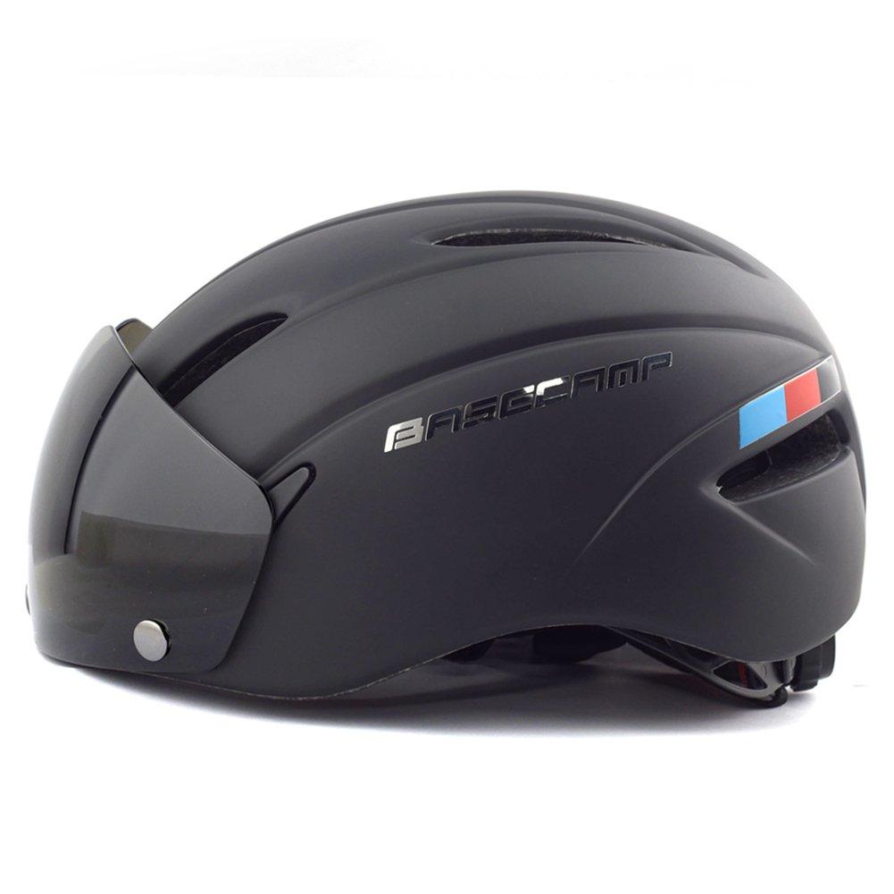 BaseCamp Zoom Fahrradhelm mit Abnehmbaren Schutzbrille Schild Visier Base Camp