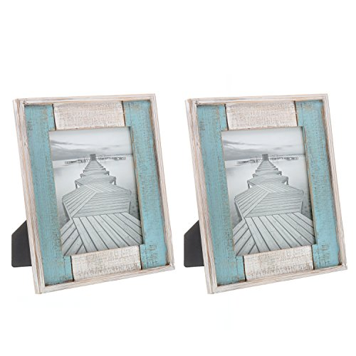 Barnyard Designs Rustic Distressed Picture Frame, 8