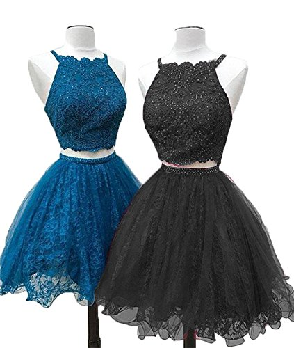 Dress Piece 2 Graduation Party 2018 Lace Black CCBubble Dresses Homecoming 6x8Rqnga