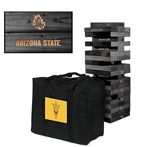 Arizona State ASU Sun Devils Onyx Stained Giant Wooden Tumble Tower Game by Victory Tailgate