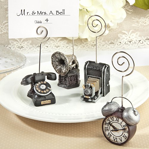 64 Assorted Vintage Design Place Card Holders by Fashioncraft