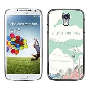 Dragon Case - FOR Samsung Galaxy S4 - a letter from spring - Caja protectora de pl??stico duro de la cubierta Dise?¡Ào Slim Fit