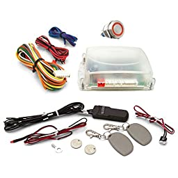 AutoLoc Power Accessories 89750 Red One Touch Engine Start Kit with RFID