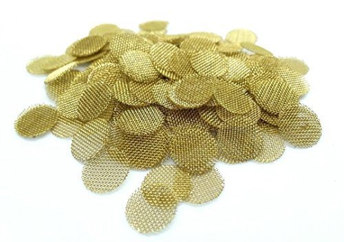 Pipe 0.375 (ABG (100) 3/8 Inch Brass Screens Pipe Screen Bowl Filters for Smoking Tobacco Pipes)