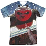 Trevco Mens Kung Fu Panda Epic Jumping Double Sided Adult T-Shirt