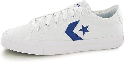 converse bianche blu