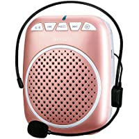 Portable Voice Amplifier, SHIDU S308 Ultra-Clear Rechargeable Amplifiers, Powerful Compact and Comfortable Wired Headset Microphone for Teachers, Kindergarener, Tour Guides, Coaches and More