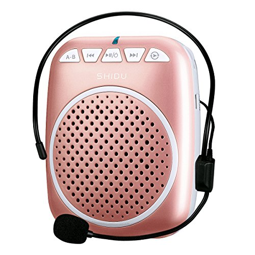 Price comparison product image Portable Voice Amplifier, SHIDU S308 Ultra-Clear Rechargeable Amplifiers, Powerful Compact and Comfortable Wired Headset Microphone for Teachers, Kindergarener, Tour Guides, Coaches and More