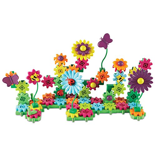 Learning Resources Gears! Gears! Gears! Build & Bloom Building Set, 117 Pieces